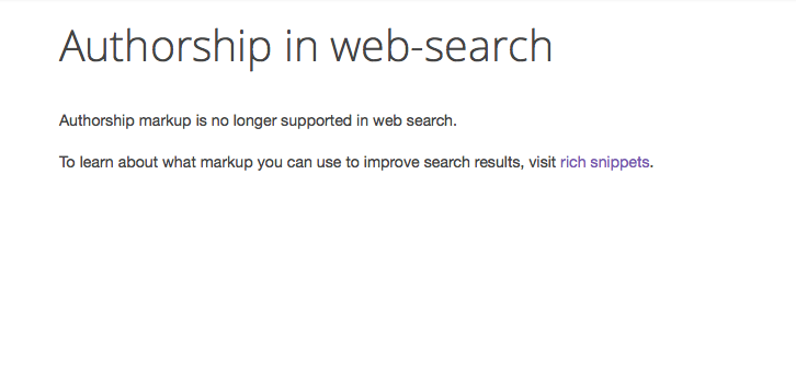 Google Authorship no more supported