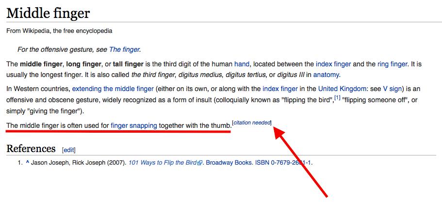 Dito medio wikipedia
