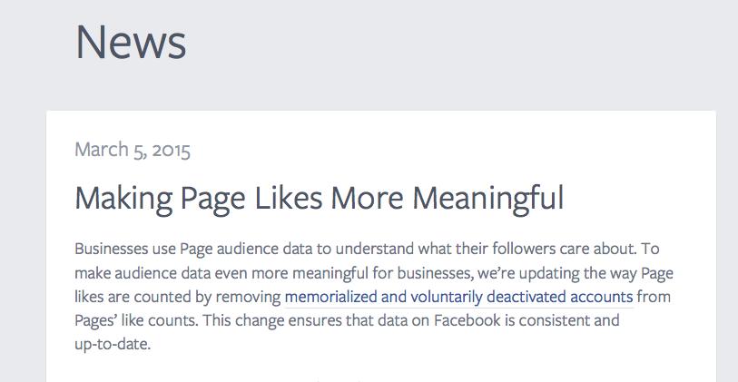 Facebook Like update