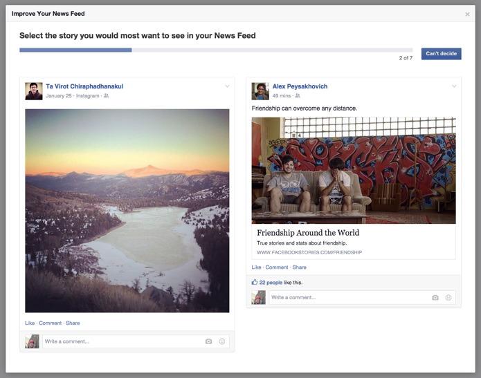 Algoritmo Facebook: parola agli utenti