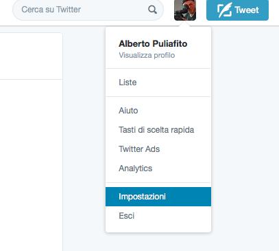 Twitter - Impostazioni per tornare all'ordine cronologico