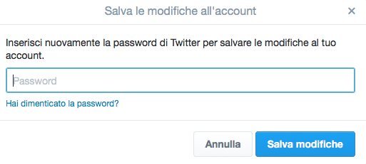 Algoritmo Twitter salva password