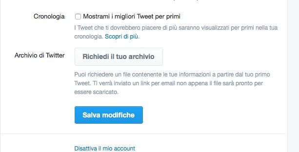 Algoritmo twitter migliori Tweet