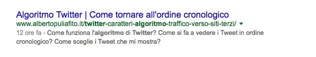 """Sul post """"Come funziona l'algoritmo di Twitter"""": il Redirect 301 fa il suo dover dopo meno di 12 ore"""