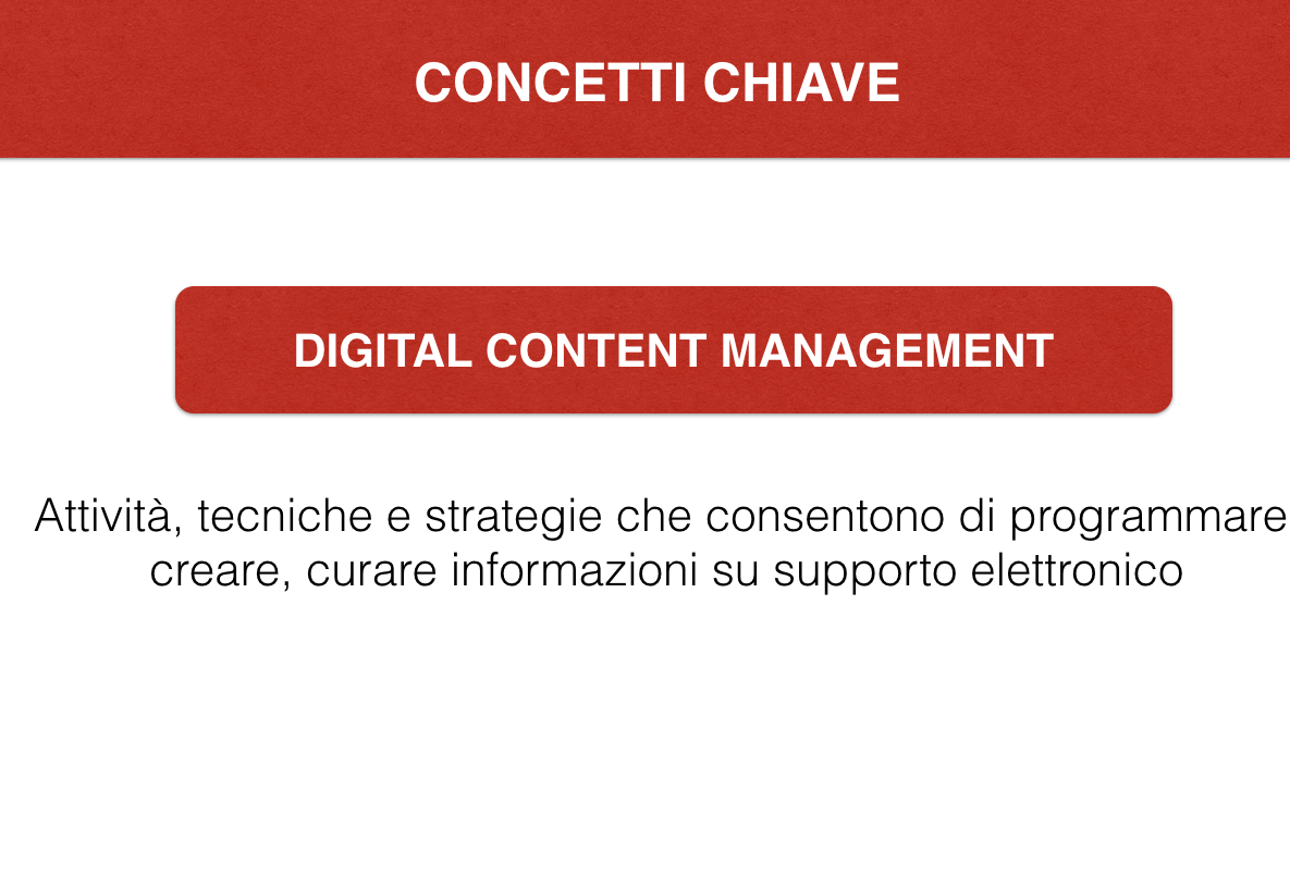 Digital content management - Glossario