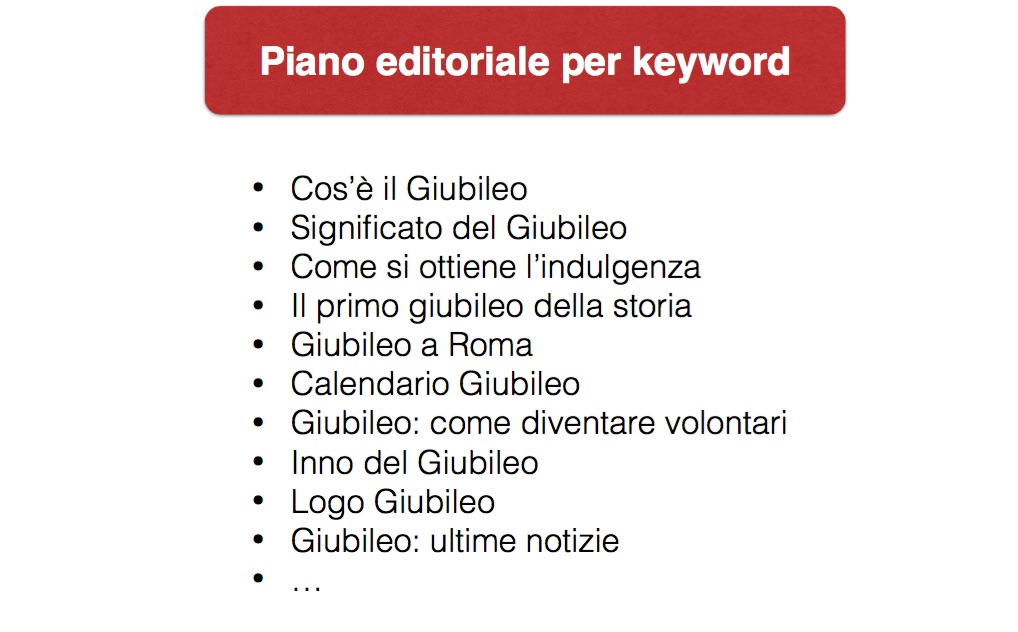 Come si scrive un piano editoriale SEO?