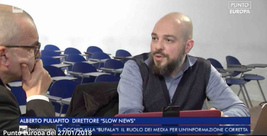 Fake News: Alberto Puliafito intervistato a Rai Parlamento