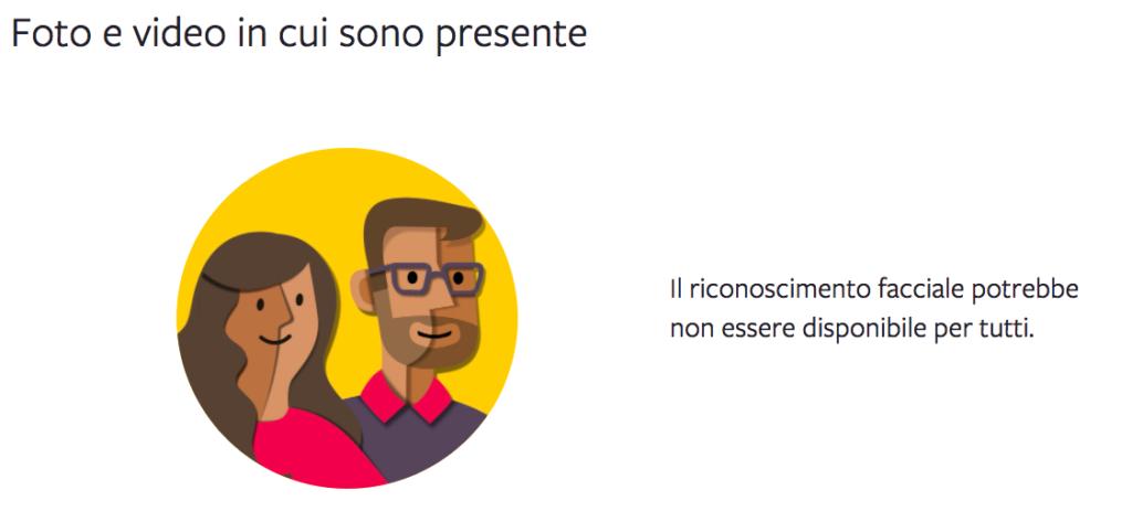Il riconoscimento facciale di Facebook